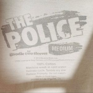 goodie two sleeves Tops - THE POLICE Synchronicity Band Tee Shirt M
